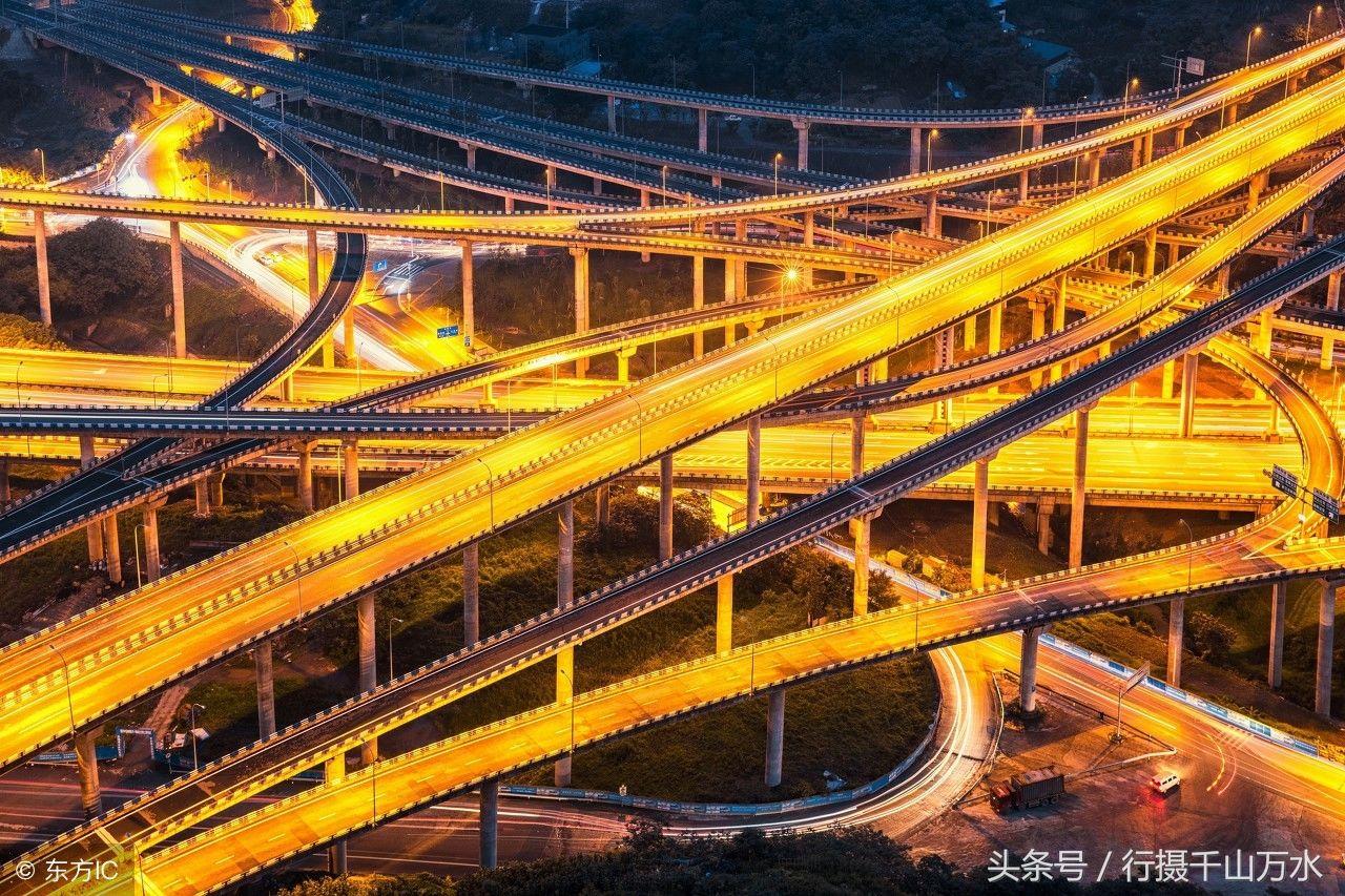 【奔放:看看重庆立交桥航拍城市大动脉令人震撼!老铁