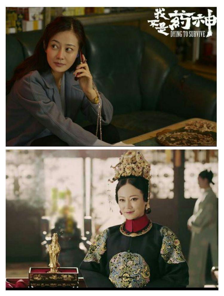 """""""高贵妃""""谭卓华丽蜕变,穿一袭黑色刺绣连衣裙,35岁高级又冷艳"""