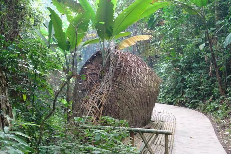 在云南西双版纳深山里,有一个少数民族离群而居-克木人,在越南,老挝