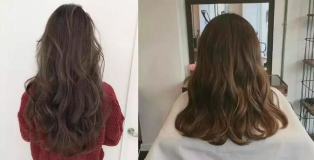 最近很流行的慵懒风发型,头发稍有曲度,配上八字刘海,整个人看起来图片