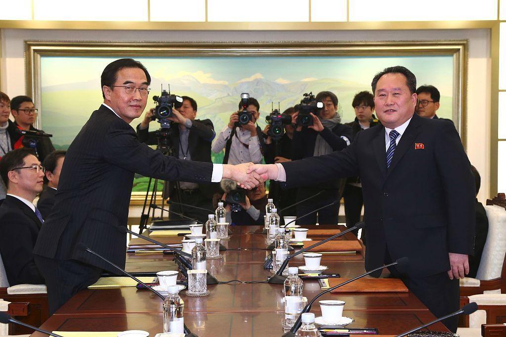 朝韩双方在板门店成功举行高级别会谈(图/视觉中国)