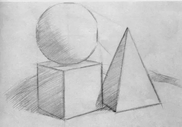 素描教程:素描几何教程