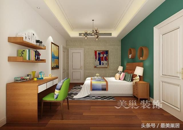 平五室两厅大平层户型装修设计,出自美巢装饰,业主家算得上大家庭了