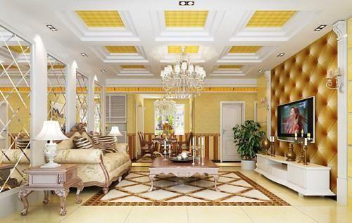 3,灯具 欧式风格灯具色彩最好采用黄,金色彩,造型多变.