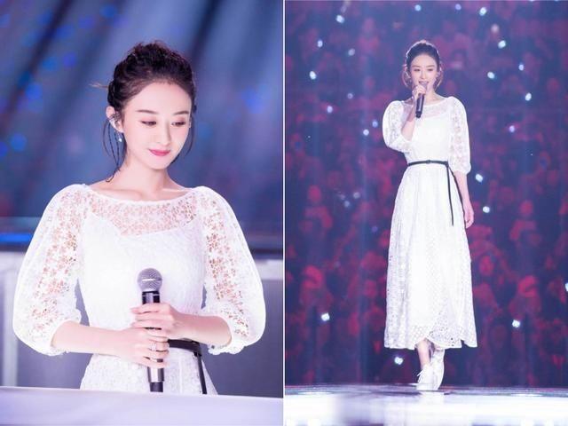 杨幂赵丽颖美若天仙,范冰冰的裙子会发光,46岁洪欣美得才吓人
