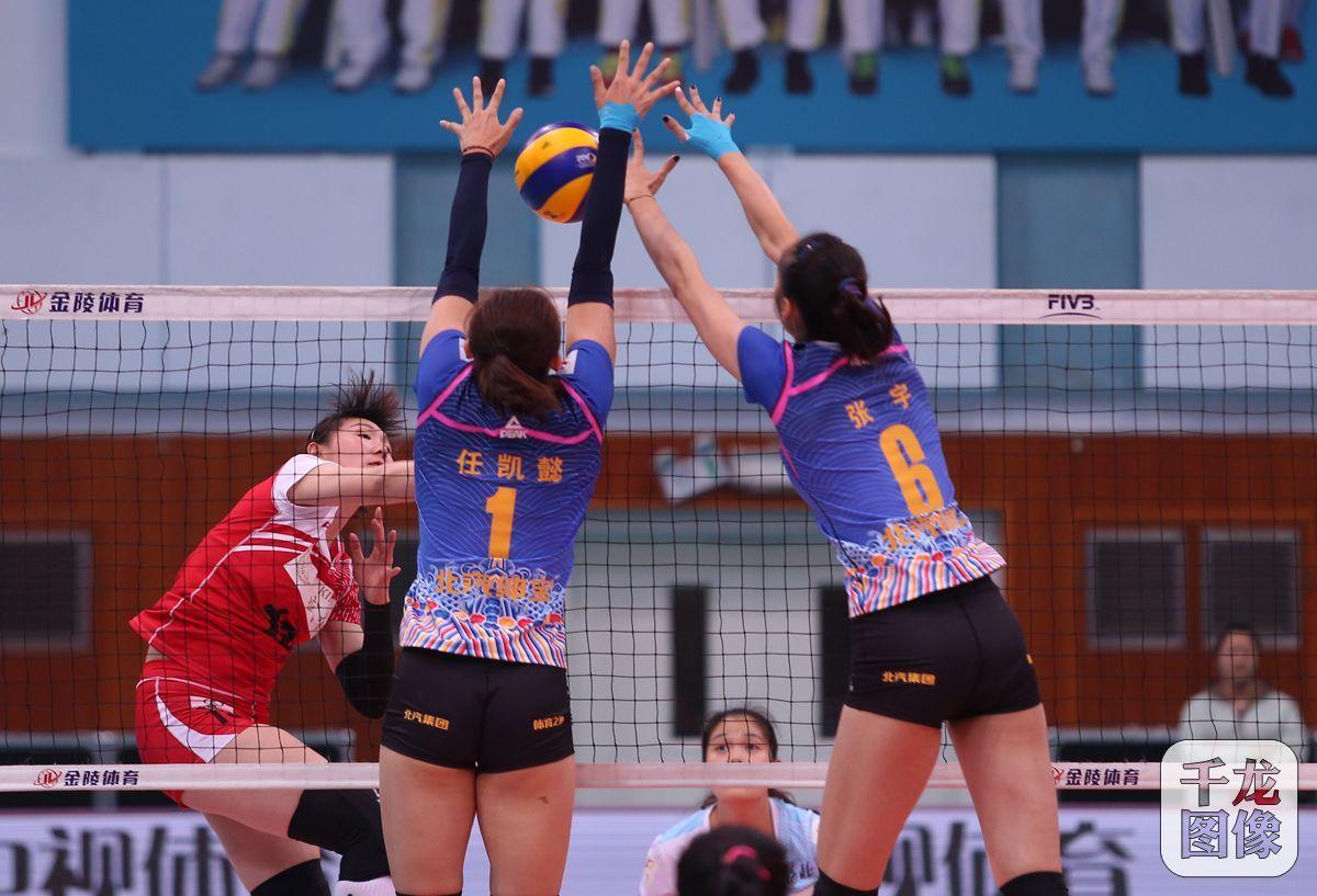 中国女子排球超级联赛第七轮 北汽女排3:0河北