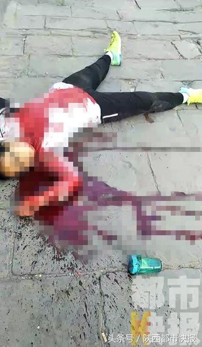 突发:陕西米脂县 一歹徒中学门口行凶 致多名学
