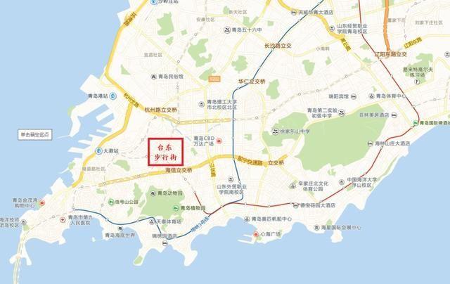 青岛台东步行街位于青岛市市北区台东三路