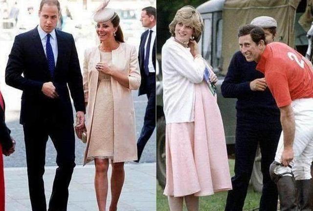 戴安娜王妃与凯特王妃的怀孕照,母爱爆棚,戴安娜比儿媳还少女!