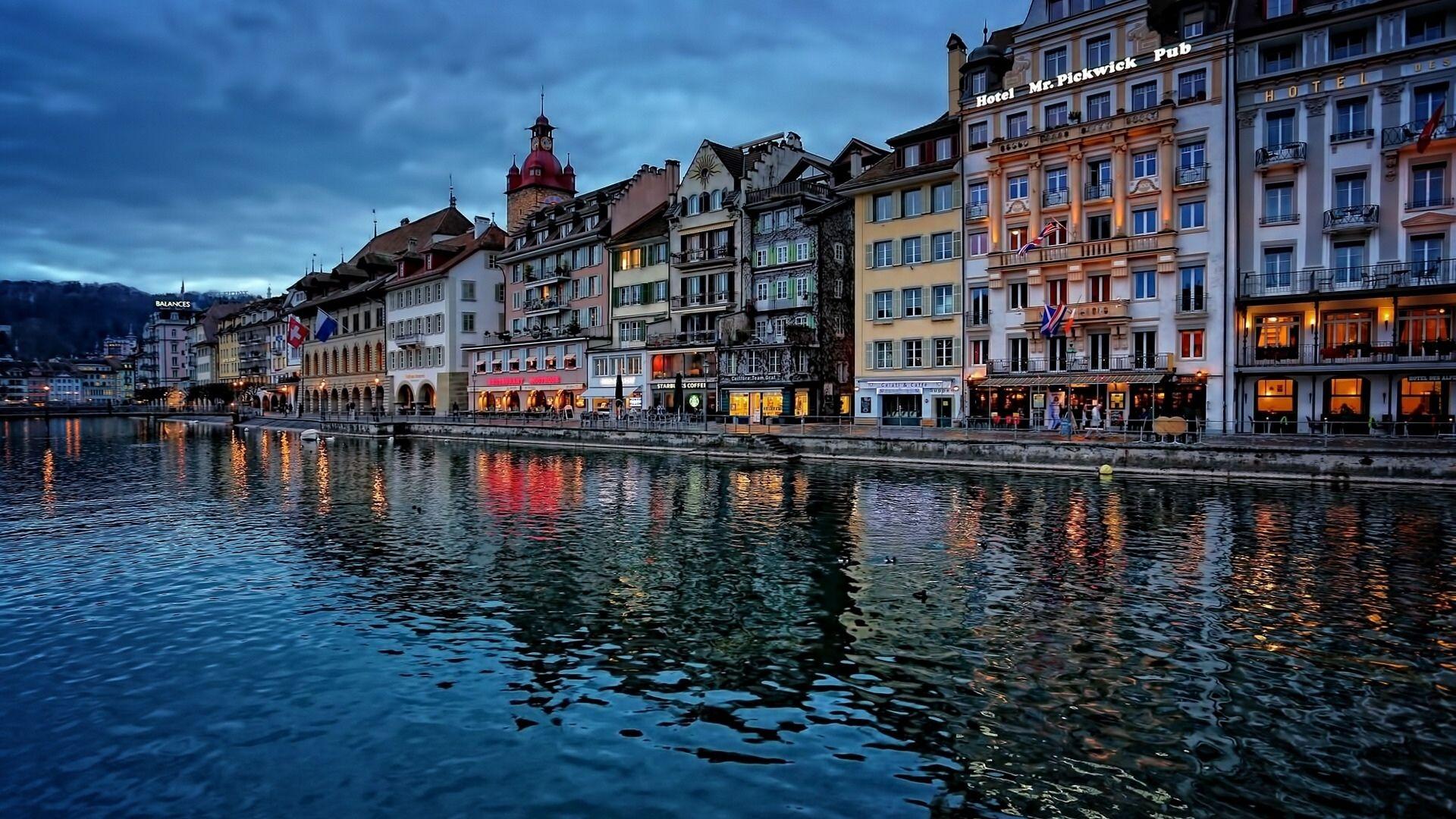 瑞士卢塞恩风景图片高清电脑桌面壁纸