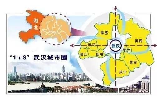 湖北省一县级市,人口近100万,被划入 武汉都市圈