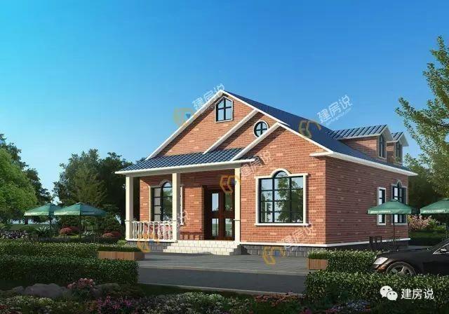 造型优美,具有鲜明的美式田园风格,屋顶设计很有层次感,采光通风良好