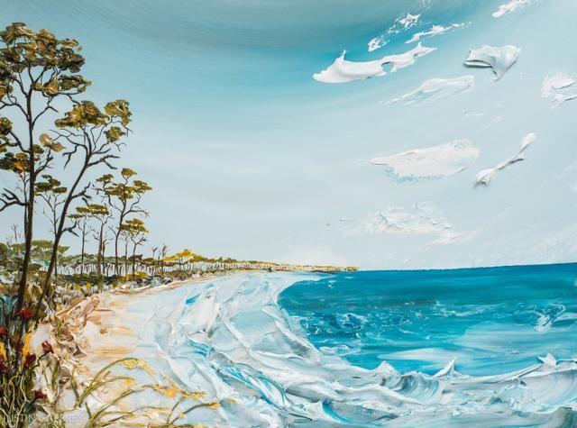 来自画家justin gaffrey的一组立体笔触油画艺术