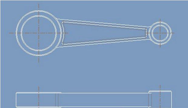 proe制作剖视图图纸实木加工茶几图片