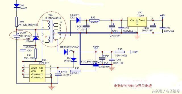 科技 正文  电磁炉的emc防护电路主要是在电源的进入端防止有高频干扰