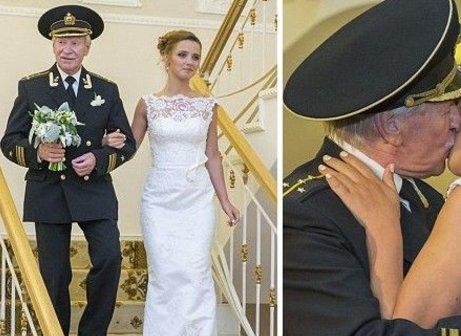老头安检美女_俄罗斯美女嫁85岁老头,俩人曾经是师生