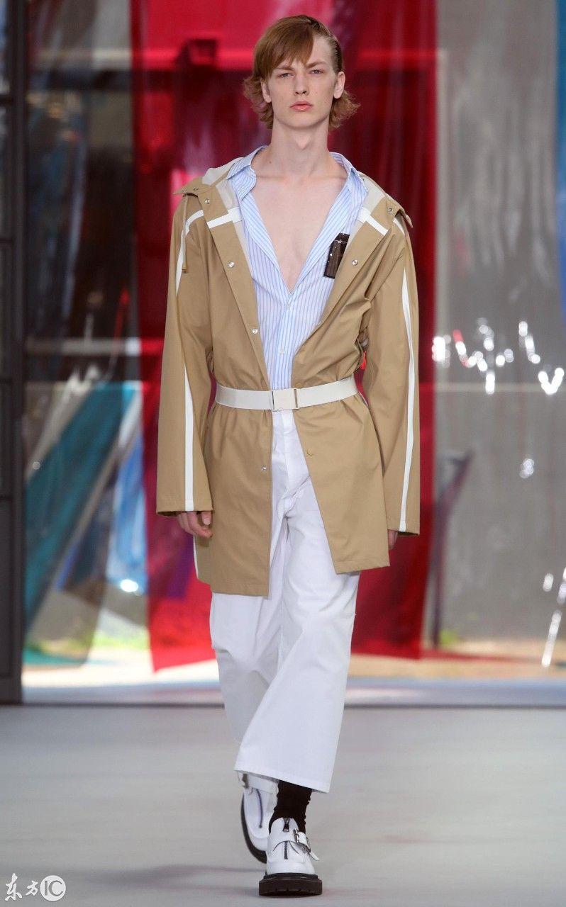 意大利米兰时装周模特展示时尚休闲服饰
