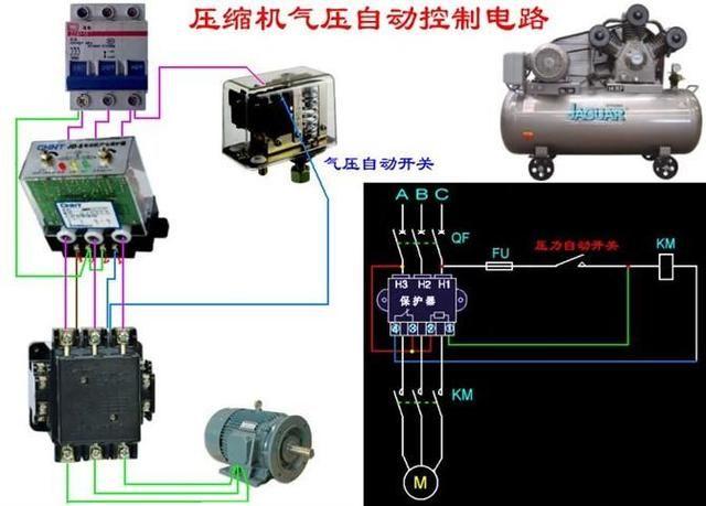 电工必备 最齐全电路开关回路 断路器电机接线图 非常