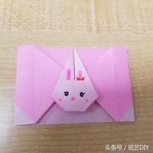 简单可爱兔子信封折纸-儿童节小朋友交换必备