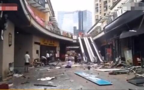 苏州商业街爆炸 煤气泄漏导致两人受伤