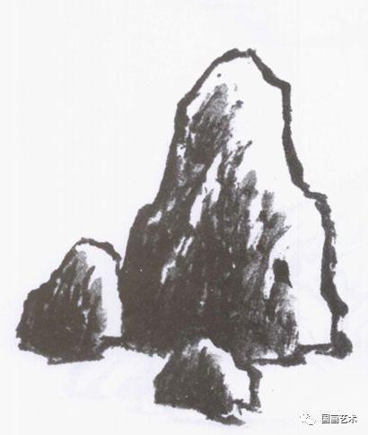 白雪石山水画技法节选:山石的画法