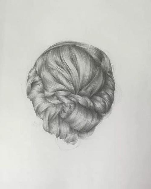 绘画教程   头发的画法,这样画头发才逼真又好看!
