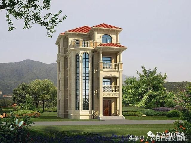 面宽8米的图纸宅基地建房,6款图纸经典别墅,让农村钢结构单跨双层厂房重型图片