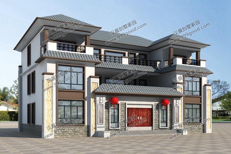 像这样的新中式别墅,一辈子只需要盖一栋,城里房哪比得上?