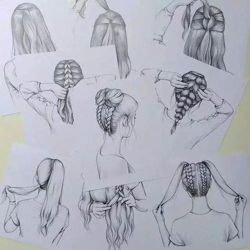 绘画教程 | 头发的画法,这样画头发才逼真又好看!