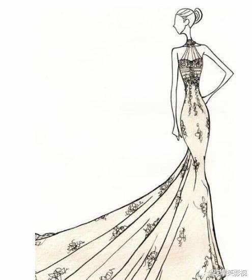 十二星座专属手绘婚纱,金牛座黑色诱惑,天秤座高贵典雅!
