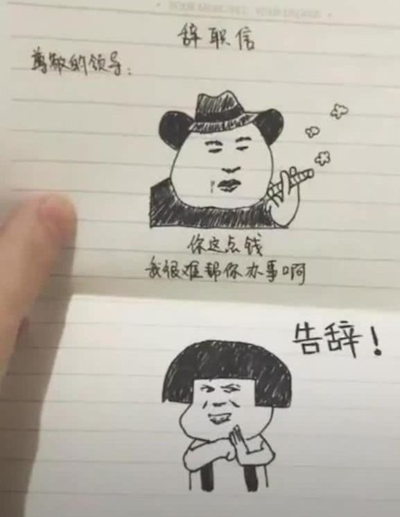 女人用阴影写辞职信,求领导们的表情员工心理包表情搞笑胖图片