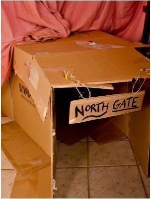 幼儿园老师纸箱子手工图片
