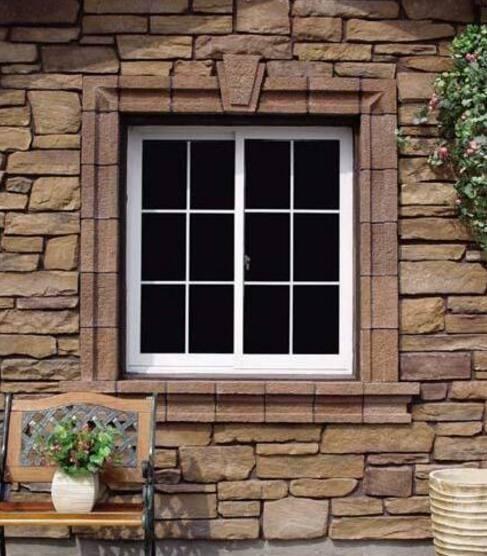 好看的别墅外窗设计效果图,石材窗套样式好多