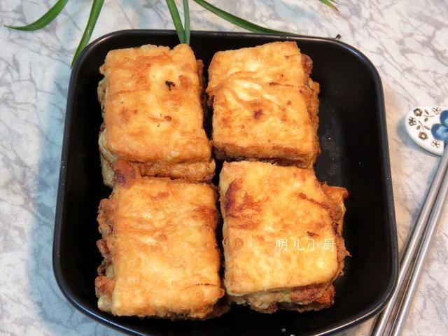 油炸豆腐的家常做法_好吃又营养的油炸豆腐盒子就做好了,看着就很有食欲吧!
