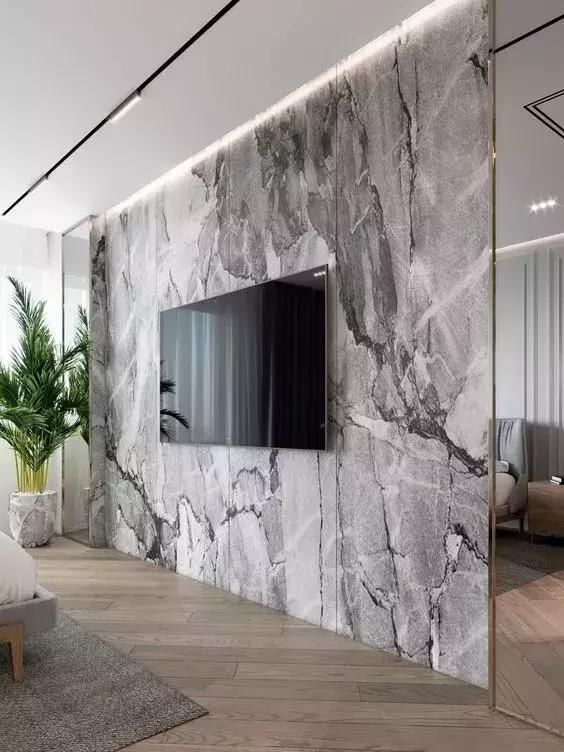 2018最火的45款电视背景墙设计!越简单越有逼格!