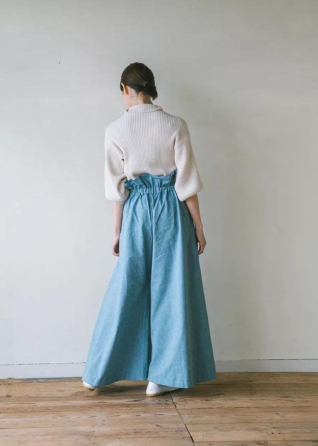 资料阔腿裤的图纸和v资料图纸红黄蓝时尚厂房图片