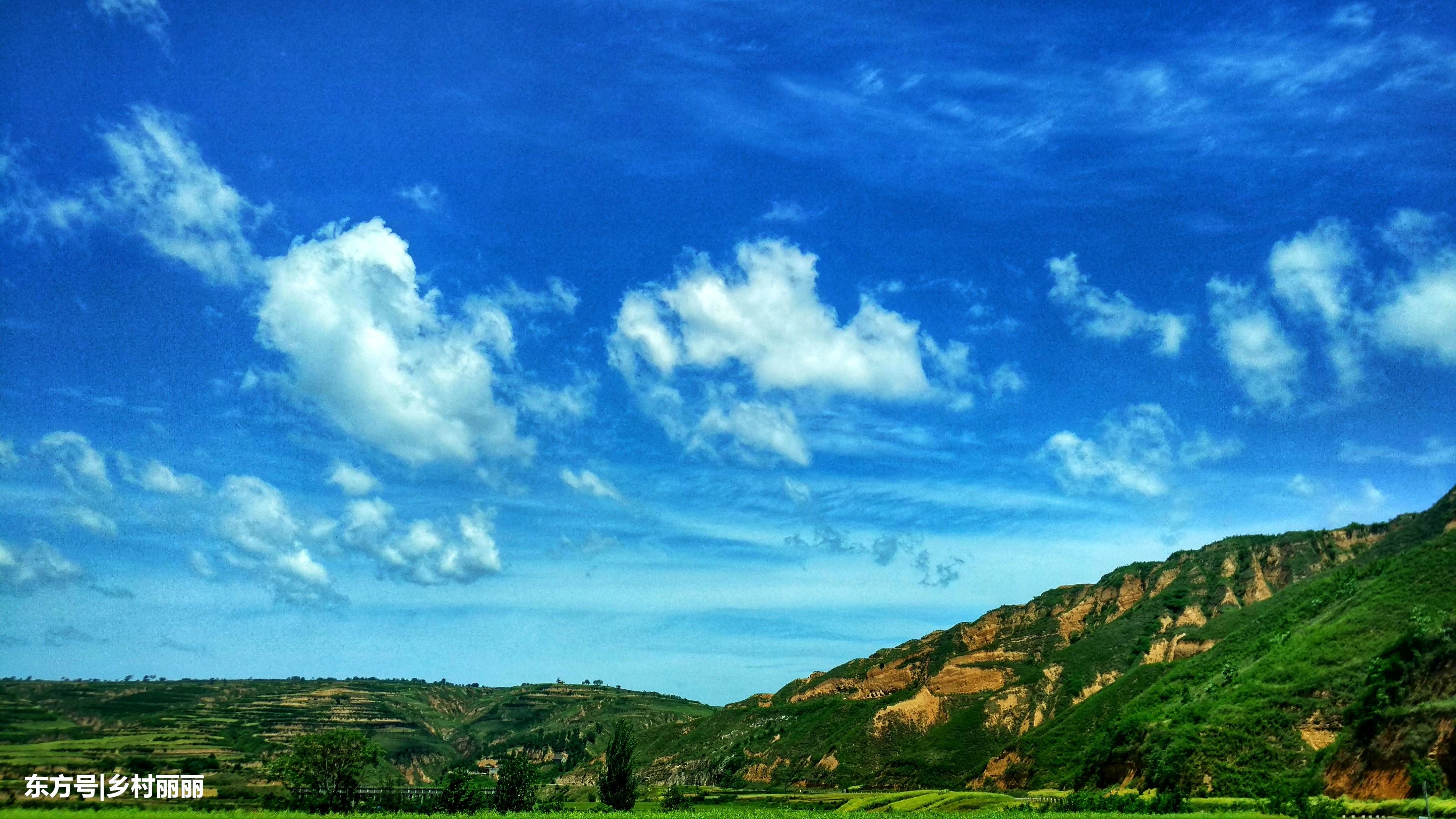 实拍陕西咸阳农村蓝天风景,这景象美得勾魂!