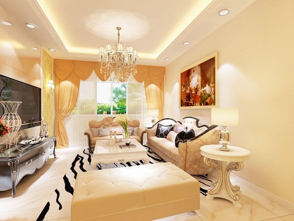 影视墙的设计采用石材与壁纸的结合.加壁灯装饰.