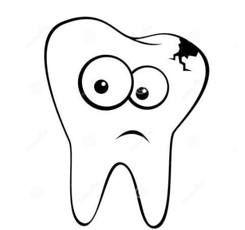 你怕牙齿简笔画