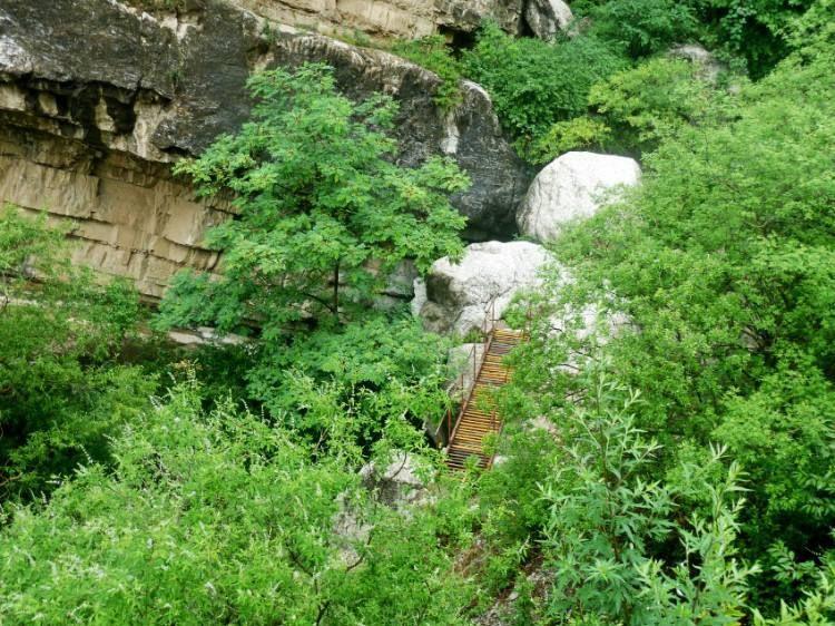 白羊沟自然风景区有许多惟妙惟肖的神话散布于蜿蜒起伏的山峦中