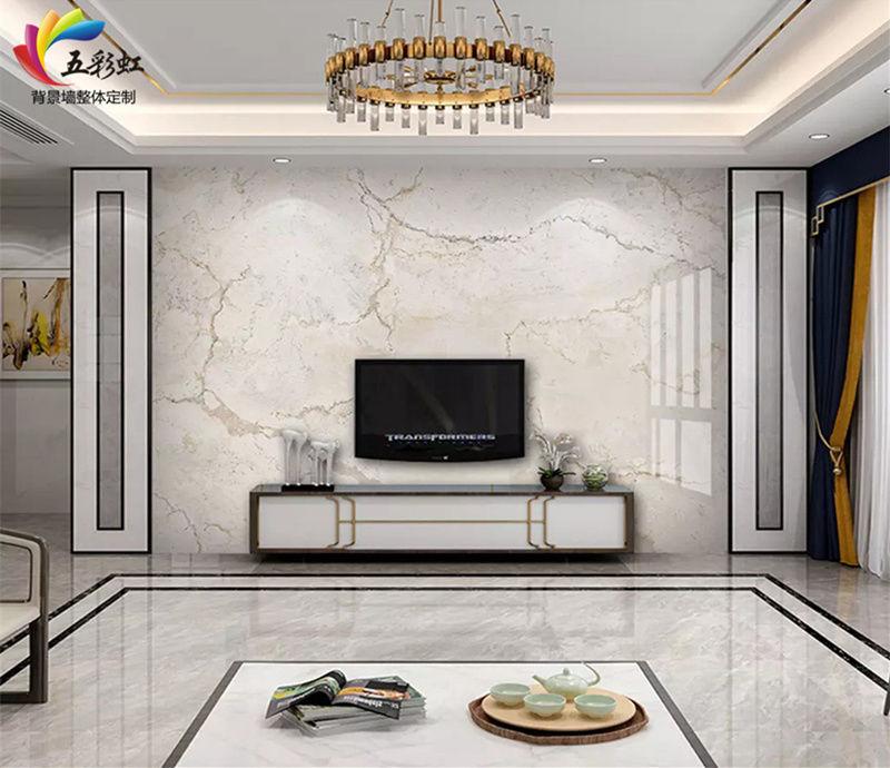 微晶石搭配护墙电视背景墙造型,2018年最出色的家居设计!图片