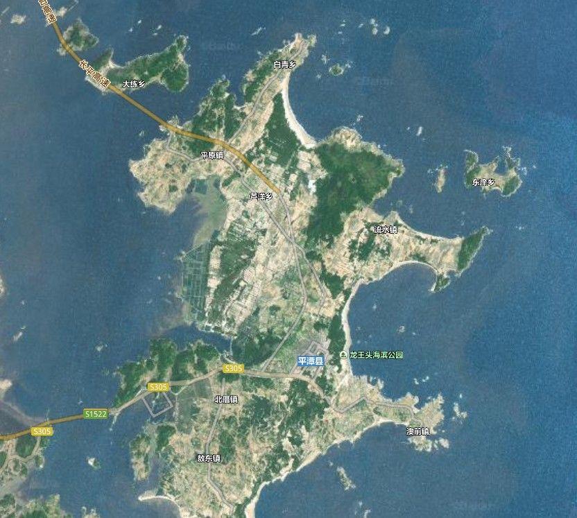 旅游 正文  卫星地图上的福州◆平潭岛,海坛岛,亦称平潭岛,是中国第六