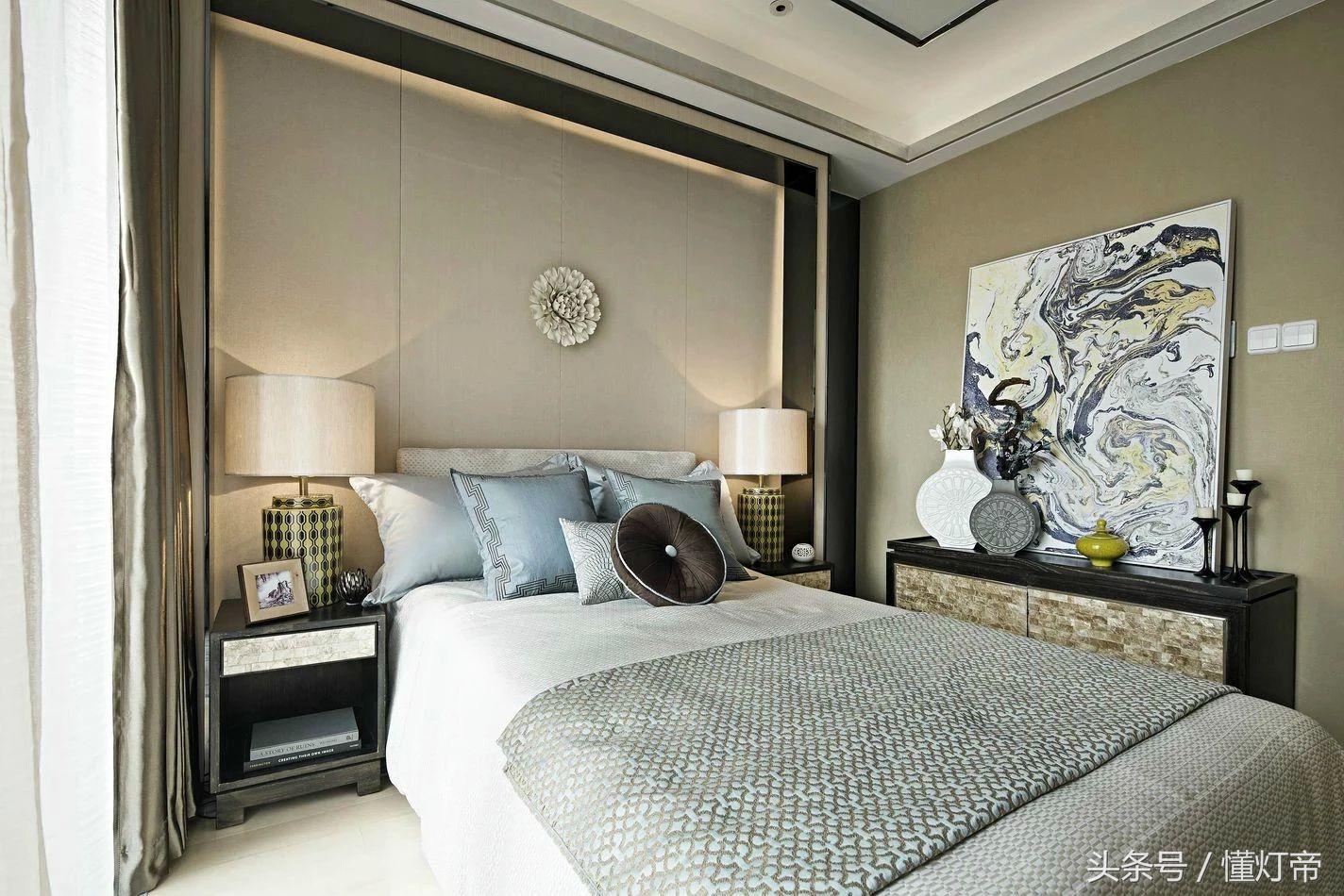 新中式风格装修,灯具应用搭配实景图给你参考,激发你的灵感!