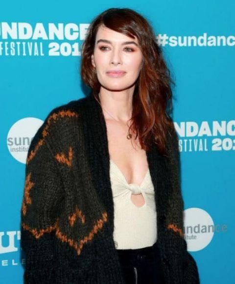 英国影星琳娜·海蒂,出席帕克城圣丹斯电影节