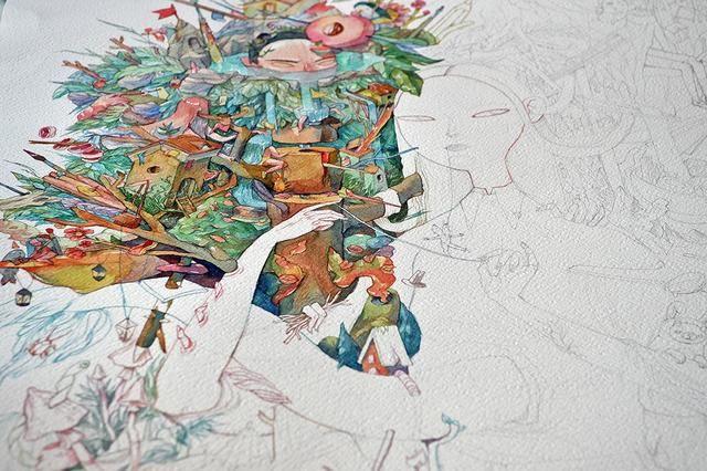 火烈鸟铅笔画图片
