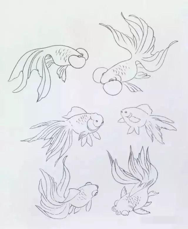 写意小鱼画法