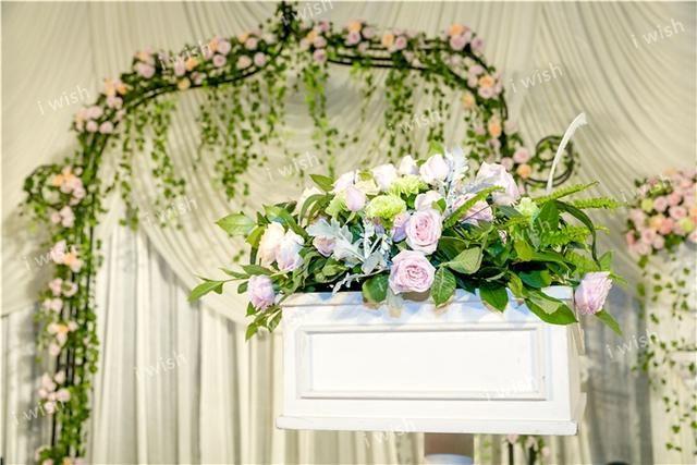 唯美西式婚礼温馨浪漫的暖色系,唯美大气的婚礼现场图片