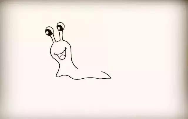 【简笔画】画一只积极向上的蜗牛