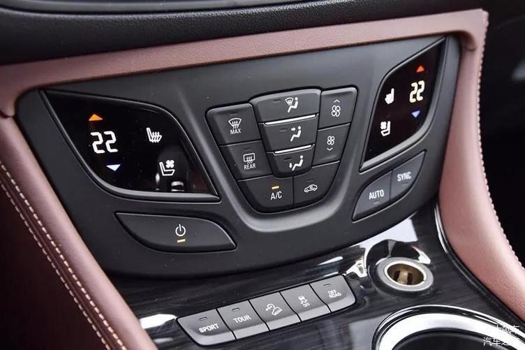 汽车 正文  昂科威中控台空调控按键,是实体按键和虚拟按键相结合的