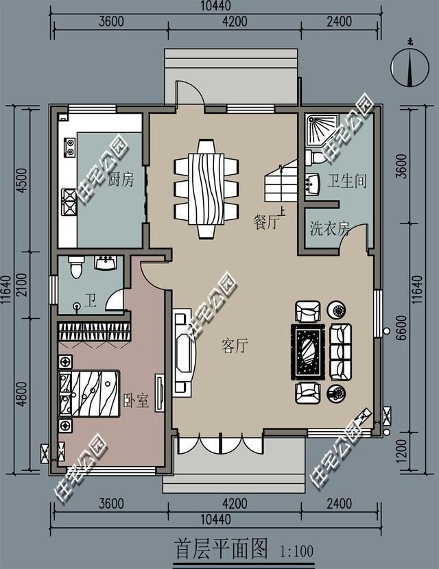 农村自建房三层100一105平方,我要图纸建几层?
